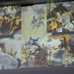 """Ausschnitte aus dem Langhausfresko der """"Apotheose des Hl. Ignatius von Loyola"""" in Sant'Ignazio in Rom, gemalt 1685 von Andrea Pozzo"""